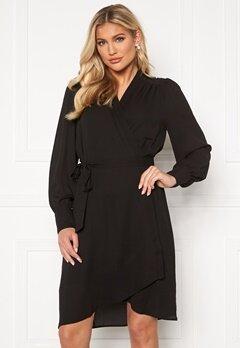 SELECTED FEMME Alva LS Wrap dress Black Bubbleroom.no