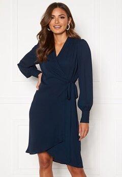 SELECTED FEMME Alva LS Wrap dress Dark Sapphire Bubbleroom.no