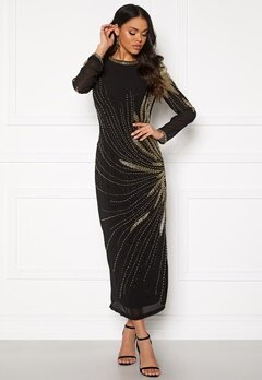 SELECTED FEMME Catalina LS Beaded Dress Black/Beading Bubbleroom.no