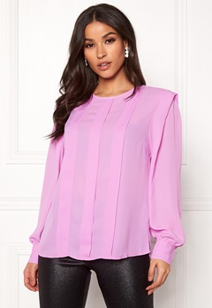 SELECTED FEMME Chanelle LS Pleat Top Orchid Bubbleroom.no
