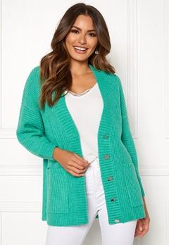 SELECTED FEMME Clova LS Knit Cardigan Gumdrop Green Bubbleroom.no