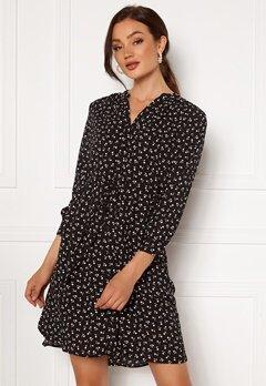 SELECTED FEMME Damina 7/8 Print Dress Black AOP: Flower Bubbleroom.no