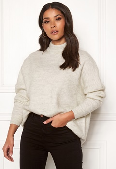 SELECTED FEMME Enica LS Knit O-neck Birch Bubbleroom.no