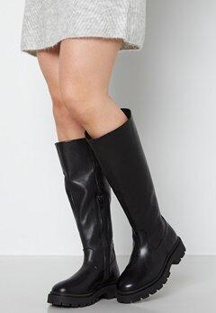 SELECTED FEMME Femma Leather Boot Black bubbleroom.no