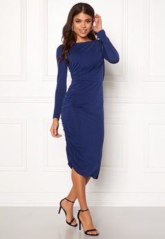 SELECTED FEMME Helen LS Dress Blue Depths Bubbleroom.no