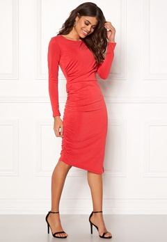 SELECTED FEMME Helen LS Dress True Red Bubbleroom.no