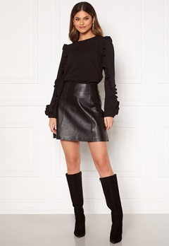 SELECTED FEMME Ibi Leather Skirt Black Bubbleroom.no