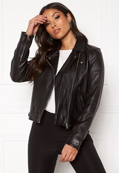 SELECTED FEMME Kate Leather Jacket B Black Bubbleroom.no