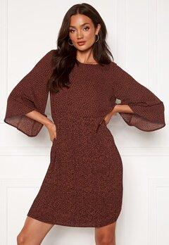 SELECTED FEMME Kinsley 3/4 Short Dress Smoked Paprika Bubbleroom.no