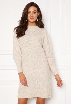 SELECTED FEMME Linna LS Knit Dress Sandshell Bubbleroom.no