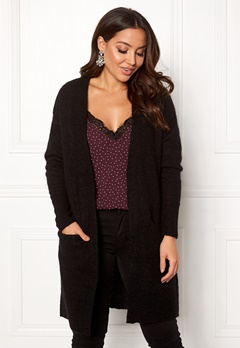 SELECTED FEMME Livana LS Knit Cardigan Black Bubbleroom.no