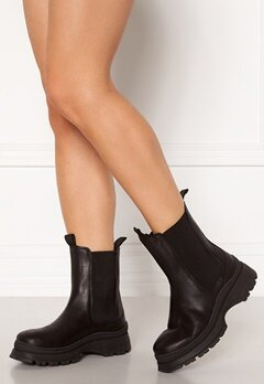SELECTED FEMME Lucy Leather Chelsea Boot Black Bubbleroom.no