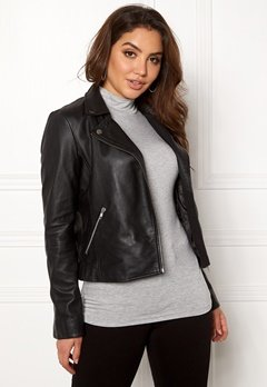 SELECTED FEMME Marlen Leather Jacket Black Bubbleroom.no