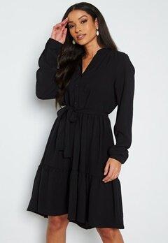 SELECTED FEMME Mivia LS Short Dress Black bubbleroom.no