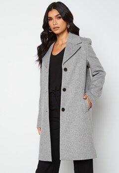 SELECTED FEMME New Sasja Wool Coat Light Grey Melange bubbleroom.no