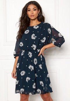 SELECTED FEMME Oriana 3/4 Short Dress Dark Sapphire Bubbleroom.no