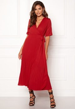 SELECTED FEMME Piper 2/4 Wrap Dress True Red Bubbleroom.no