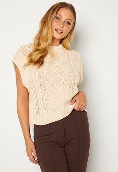 SELECTED FEMME Piper Knit Vest Birch bubbleroom.no