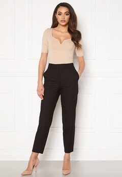 SELECTED FEMME Ria MW Cropped Pant Black Bubbleroom.no