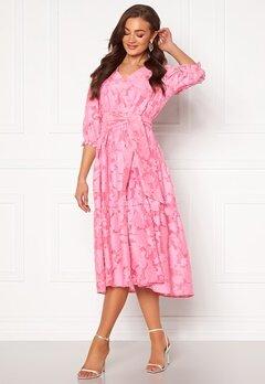 SELECTED FEMME Sadie 3/4 Midi Dress Rosebloom Bubbleroom.no