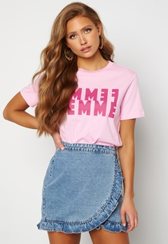 SELECTED FEMME Simi SS Tee Pink Lavender Bubbleroom.no