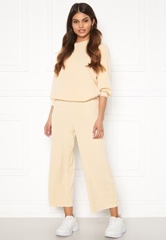 SELECTED FEMME Tenny MW Cropped Wide Pant Birch Bubbleroom.no