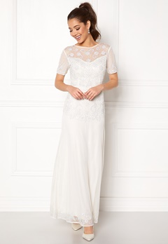 AngelEye Sequin Embellished Dress White Bubbleroom.no