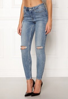 VERO MODA Seven MR Slim Jeans Medium Blue Denim Bubbleroom.no