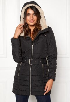 ONLY Shelly Hooded Coat Black Bubbleroom.no