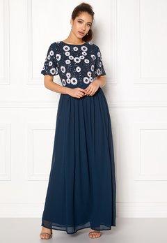 AngelEye Short Sleeve Sequin Dress Navy Bubbleroom.no