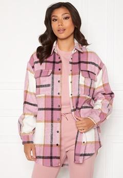 Sisters Point Eira Shirt 843 Flamingo Check Bubbleroom.no