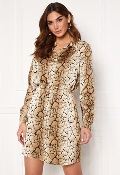 Sisters Point Erika Dress 800 Graphic/Stone Bubbleroom.no