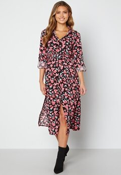 Sisters Point Eron Dress 001 Black/Pink bubbleroom.no