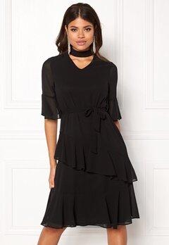 Sisters Point Gabit Dress Black Bubbleroom.no