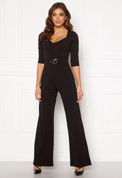 Sisters Point Gal Jumpsuit 001 Black/Gold Bubbleroom.no