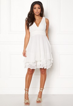 Sisters Point Germ Dress 100 White Bubbleroom.no