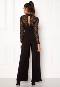 Sisters Point Gihi Jumpsuit Black/Black Bubbleroom.no