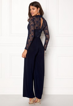 Sisters Point Gihi Jumpsuit Navy/Navy Bubbleroom.no