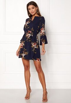Sisters Point Glans-4 Dress Navy/flower Bubbleroom.no