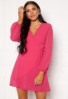 Sisters Point Gobbi Dress Hot Pink Bubbleroom.no