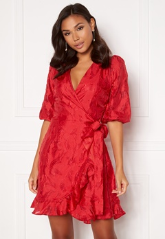Sisters Point Gras Dress 500 Red Bubbleroom.no
