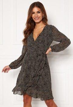Sisters Point Greto Dress 001 Black/Brown/Grey Bubbleroom.no