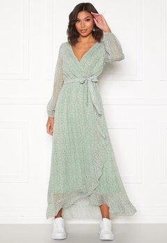 Sisters Point Gush Dress L.Khaki/Leo Bubbleroom.no