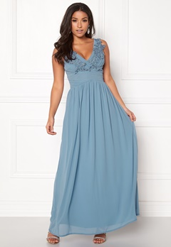 Sisters Point Nanny Long Dress 400 Dusty Blue Bubbleroom.no