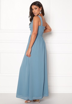 Sisters Point Nanny Long Dress 400 Dusty Blue Bubbleroom.no