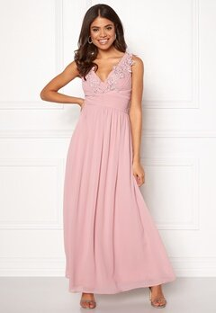 Sisters Point Nanny Long Dress 585 Dusty Rose Bubbleroom.no