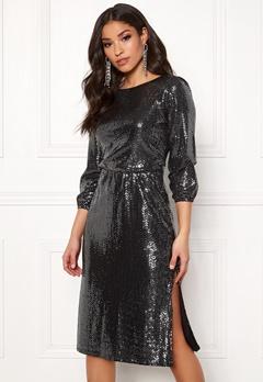 Sisters Point Necca Dress 001 Black/Silver Bubbleroom.no