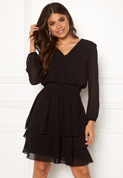 Sisters Point Nicoline Dress 000 Black Bubbleroom.no