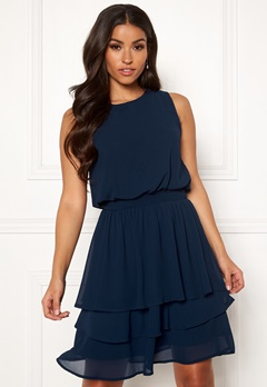 Sisters Point Nicoline Dress 440 Navy Bubbleroom.no