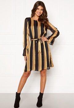 Sisters Point Noki Dress 001 Black/Gold Bubbleroom.no